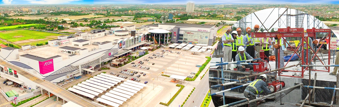 Post-tensioning Projects - AEON MALL LONG BIEN